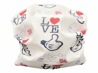 Immagine di Andy&Helen mascherina per bambini lavabile tg 2-10 anni love - Mascherine