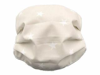 Immagine di Andy&Helen mascherina per bambini lavabile tg 2-10 anni stelle panna - Mascherine