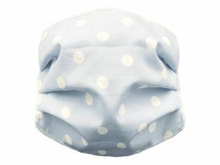 Immagine di Andy&Helen mascherina per bambini lavabile tg 2-10 anni pois azzurro - Mascherine