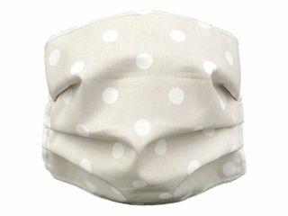 Immagine di Andy&Helen mascherina per bambini lavabile tg 2-10 anni pois panna - Mascherine