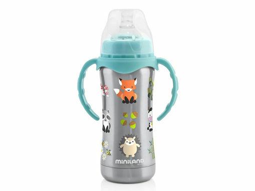 Immagine di Miniland bottiglietta termica Thermobaby 180 ml silver - Tazze e bicchieri