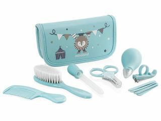 Immagine di Miniland kit completo per il baby care Baby Kit azzurro - Accessori e giochi