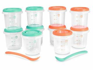 Immagine di Miniland contenitori ermetici 10 pz + 2 cucchiai mediterraneo - Accessori vari