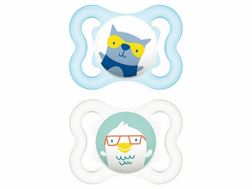 Immagine di MAM succhietto Air caucciù 2-6 mesi 2 pz azzurro - Succhietti