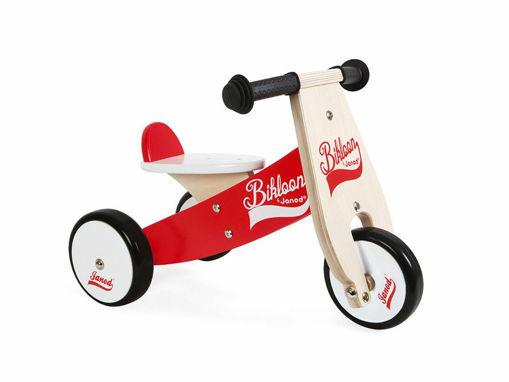 Immagine di Janod triciclo senza pedali rosso e bianco - Giochi cavalcabili
