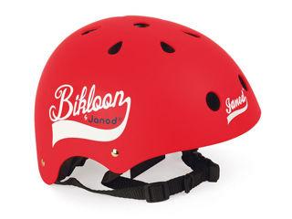Immagine di Janod casco per bici Bikloon rosso - Seggiolini per bici
