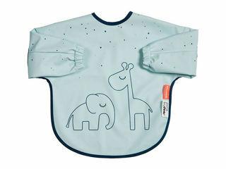 Immagine di Done by Deer bavaglino con maniche Dreamy Dots 6-18 mesi celeste - Bavaglini neonato