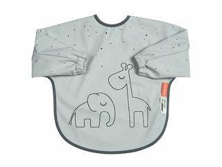 Immagine di Done by Deer bavaglino con maniche Dreamy Dots 6-18 mesi grigio - Bavaglini neonato
