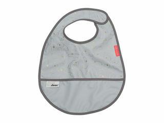 Immagine di Done by Deer bavaglino impermeabile con tasca Contour grigio - Bavaglini neonato