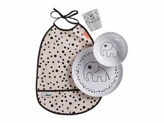 Immagine di Done by Deer set pappa Happy Dots rosa cipria - Piatti e posate
