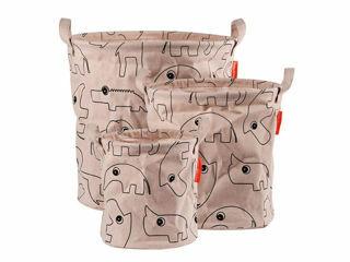 Immagine di Done by Deer cesto porta oggetti con manici Contour 3 pz  rosa - Portagiochi