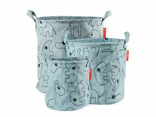 Immagine di Done by Deer cesto porta oggetti con manici Contour 3 pz celeste - Portagiochi