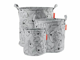 Immagine di Done by Deer cesto porta oggetti con manici Contour 3 pz grigio - Portagiochi