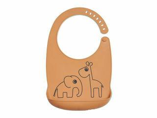 Immagine di Done by Deer bavaglino impermeabile con tasca Amici di Deer mostarda - Bavaglini neonato