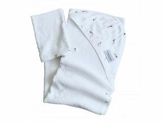 Immagine di Bamboom asciugamano neonato con cappuccio e guanto Bagno Duo plume - Accappatoi
