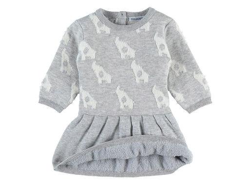 Immagine di Noukie's abito in jacquard lavorato a maglia grigio 12 mesi - Vestiti