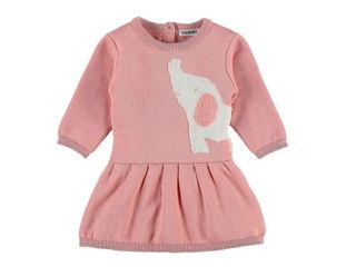 Immagine di Noukie's abito in jacquard lavorato a maglia rosa 6 mesi - Vestiti