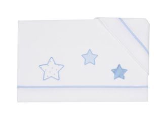 Immagine di Coccole Baby set lenzuolo 3 pz per lettino Petite Etoile cielo - Corredino nanna