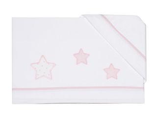 Immagine di Coccole Baby set lenzuolo 3 pz per lettino Petite Etoile rosa - Corredino nanna