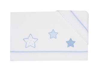 Immagine di Coccole Baby set lenzuolo 3 pz per maxi culla Petite Etoile  cielo - Corredino nanna