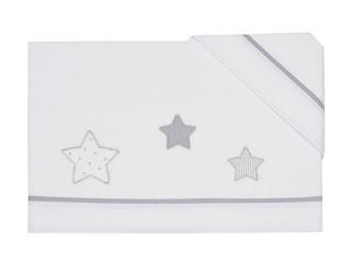 Immagine di Coccole Baby set lenzuolo 3 pz per maxi culla Petite Etoile grigio - Corredino nanna