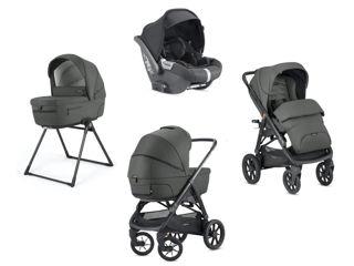 Immagine di Inglesina Sistema Quattro Aptica XT + Cab charcoal grey - Passeggini trio e duo