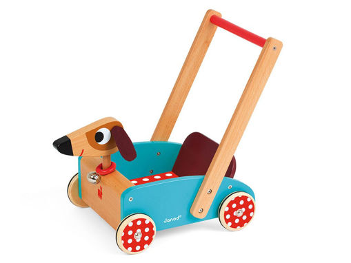 Immagine di Janod carretto in legno Crazy Doggy  - Educativi