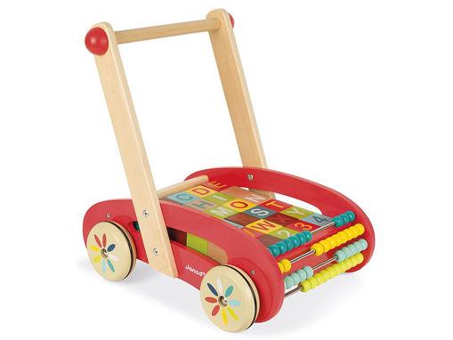 Immagine di Janod carrello in legno ABC multicolor - Educativi