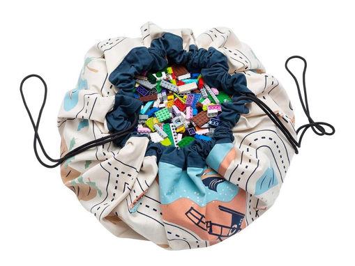 Immagine di Play&Go sacco portagiochi e tappeto 2in1 roadmap - Portagiochi