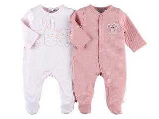 Immagine di Noukie's 2 pigiami in cotone rosa tg 6 mesi - Tutine