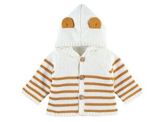 Immagine di Noukie's cardigan con cappuccio bianco rigato tg 12 mesi - Giubbini
