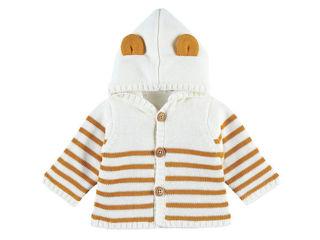 Immagine di Noukie's cardigan con cappuccio bianco rigato tg 18 mesi - Giubbini