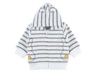 Immagine di Noukie's cardigan con zip e cappuccio grigio tg 12 mesi - Giubbini