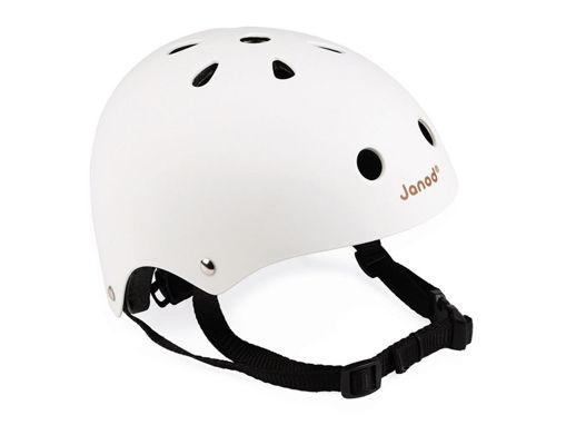 Immagine di Janod casco per bici personalizzabile bianco - Seggiolini per bici