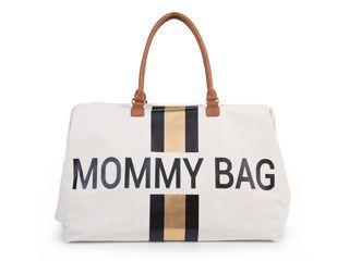 Immagine di Childhome borsa fasciatoio Mommy Bag con strisce nero-oro - Borse e organizer