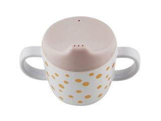 Immagine di Deer tazza Spout con beccuccio e manici Happy Dots 230 ml rosa cipria-oro - Tazze e bicchieri