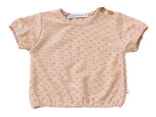 Immagine di Bamboom maglietta manica corta con bordi elastici rosa palline 243 tg 6 mesi - T-Shirt e Top