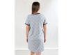 Immagine di Premamy camicia da notte clinica aperta davanti mezza manica grigio con cuori tg S