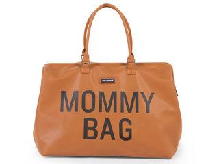 Immagine di Childhome borsa fasciatoio Mommy Bag effetto pelle marrone - Borse e organizer