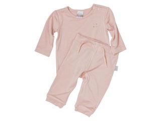 Immagine di Dili Best pantaloni bamboo + maglia manica lunga rosa tg 0-3 mesi - T-Shirt e Top