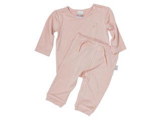 Immagine di Dili Best pantaloni bamboo + maglia manica lunga rosa tg 3-6 mesi - T-Shirt e Top