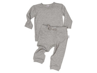 Immagine di Dili Best pantaloni bamboo + maglia manica lunga grigio tg 0-3 mesi - T-Shirt e Top