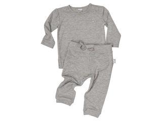 Immagine di Dili Best pantaloni bamboo + maglia manica lunga grigio tg 3-6 mesi - T-Shirt e Top