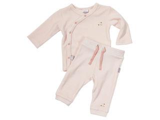 Immagine di Dili Best pantaloni ciniglia + maglia manica lunga rosa tg 3-6 mesi - T-Shirt e Top