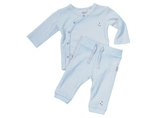 Immagine di Dili Best pantaloni ciniglia + maglia manica lunga celeste tg 3-6 mesi - T-Shirt e Top
