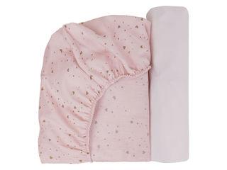 Immagine di Dili Best copri materasso carrozzina/culla 2 pz rosa talco - Complementi d'arredo