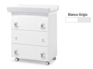Immagine di Erbesi bagnetto fasciatoio Tato bianco-grigio - Cassettiere fasciatoio