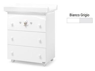 Immagine di Erbesi bagnetto fasciatoio Tatino bianco-grigio - Cassettiere fasciatoio
