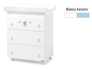 Immagine di Erbesi bagnetto fasciatoio Tatino bianco-azzurro - Cassettiere fasciatoio