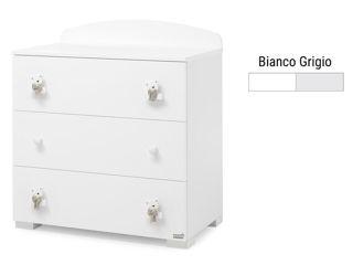 Immagine di Erbesi comò Tato bianco-grigio - Cassettiere fasciatoio